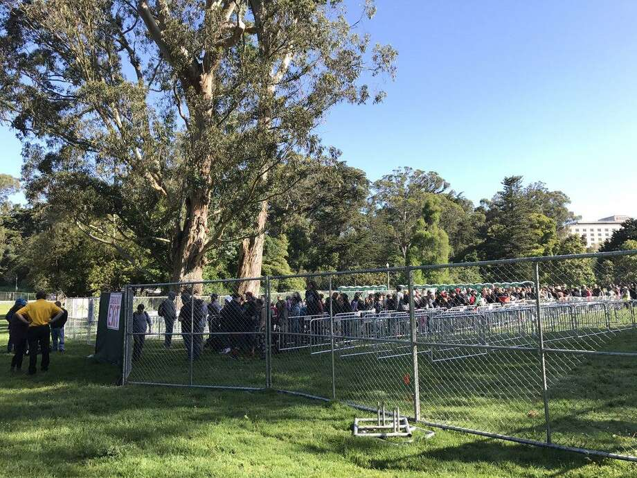 Unlike past years, the 4/20 party at Golden Gate Park on Thursday was a city-sanctioned affair with plenty of fencing and security.