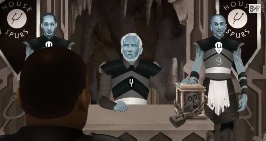 """House Spurs featured in Bleacher Report's """"Game of Zones."""" Photo: Bleacher Report"""