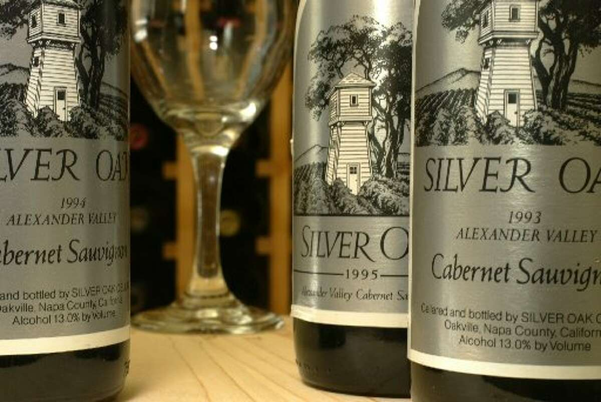 Bottles of Silver Oak Cabernet Sauvignon