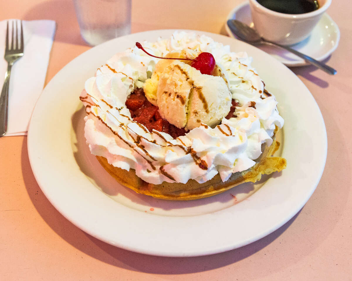 Andros Diner  Located in Fairfield  Belgian Waffle Supreme