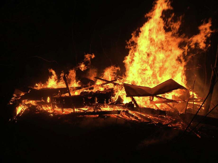 State Police are investigating a late night Columbia County barn fire. (State Police photo)  Photo: State Police Photo
