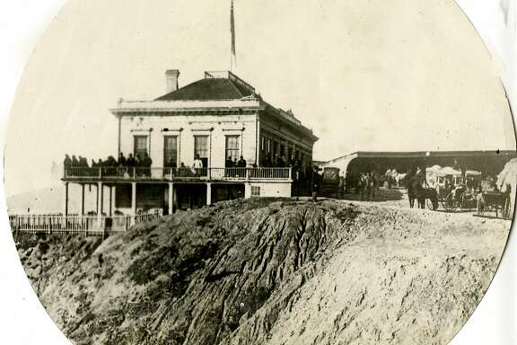 The Cliff House as it appeared in 1866.