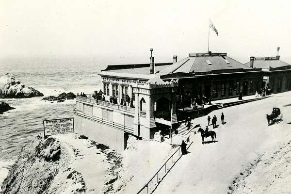 Undated photo of the Cliff House and seal rocks in San Francisco.