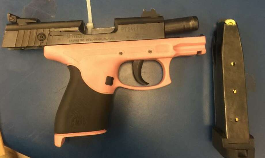 Vallejo resident Christen Brown was arrested Wednesday after police said he pointed this black and pink pistol during a live Periscope broadcast.