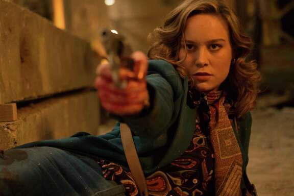 "This image released by A24 shows Brie Larson in a scene from ""Free Fire."" (Kerry Brown/A24 via AP)"
