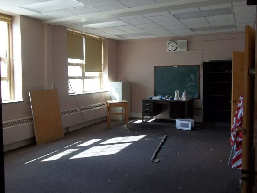 A classroom before renovations at the Livingston School Apartments in Albany.