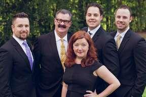 The Mercer Team includes, from left, Josh Hill, Larry Mercer, Terrance Barnes, Ben Kashou and (in front) Rachel Jones.