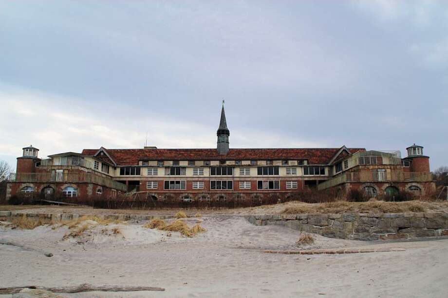 The abandoned Seaside Sanatorium in Waterford still stands on prime shoreline property. Photo: Tammy Rebello 2012 / Contributed Photo