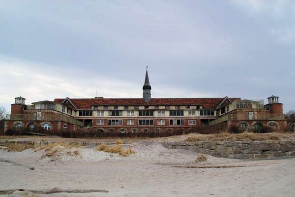 The abandoned Seaside Sanatorium in Waterford still stands on prime shoreline property.
