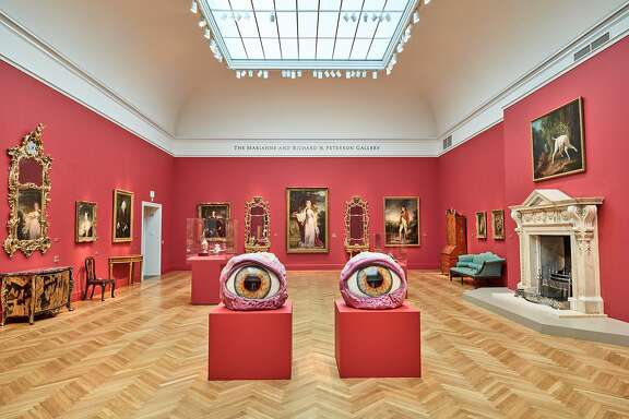 """Installation view of """"Urs Fischer: The Public & the Private"""" with """"Dazzled"""" (2016) at the Legion of Honor"""