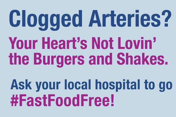 A billboard campaign is taking aim at fast food in local hospitals.