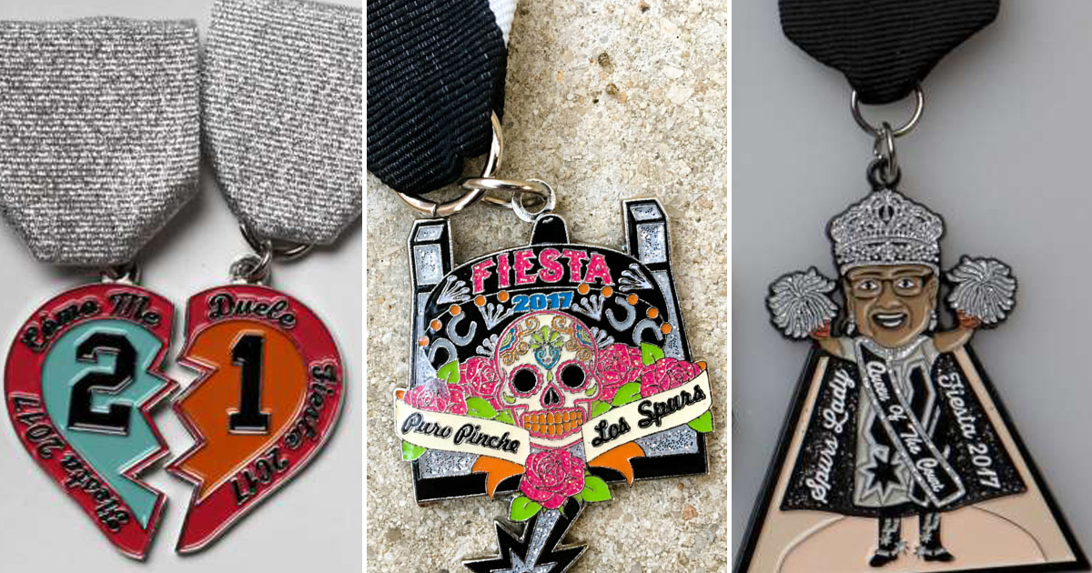 fce24d708 Fiesta medals that celebrate the San Antonio Spurs and Tim Duncan - San  Antonio Express-News