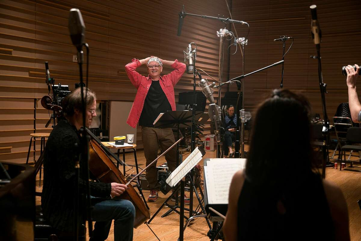 Bill Murray during a recoding session for