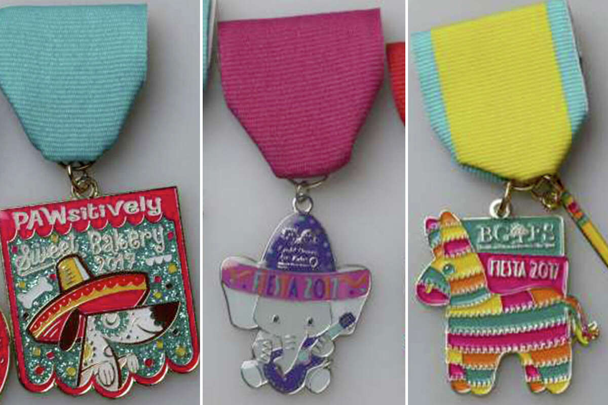 Keep clicking to see the dozens of animal-influenced 2017 Fiesta medals.
