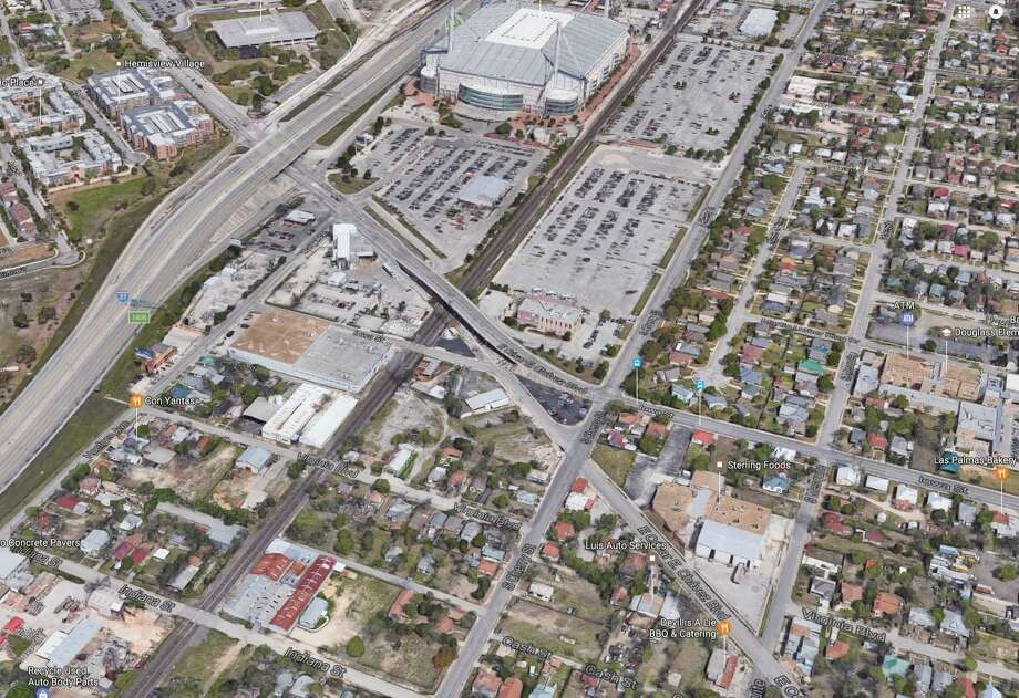 Houston-based real estate firm Rockspring Capital has purchased nearly an entire city block across the street from the Alamodome Photo: Google Maps