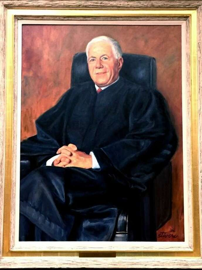 A portrait of Judge Morton Riefberg that hangs inside the Danbury Superior Court on White Street. Photo: / Contributed