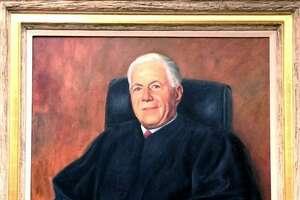 A portrait of Judge Morton Riefberg that hangs inside the Danbury Superior Court on White Street.