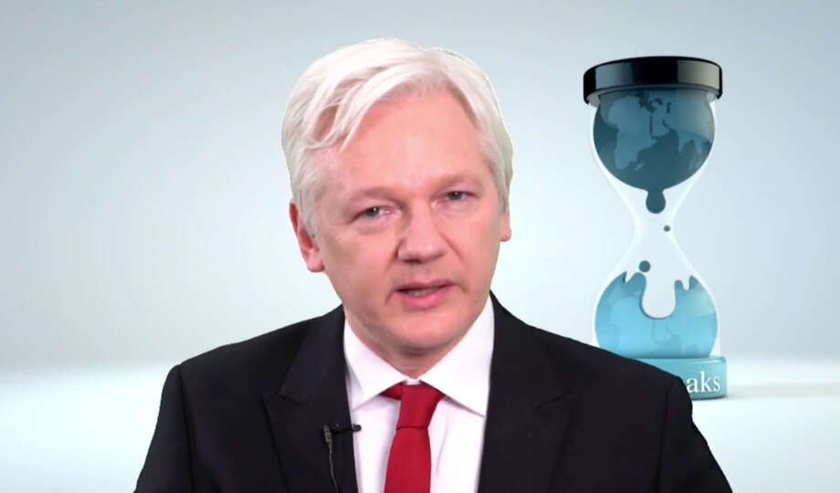 "WikiLeaks founder  Julian Assange speaks in this video made available Thursday March 9, 2017. Assange said  his group will work with technology companies to help defeat the Central Intelligence Agency's hacking tools. Assange says ""we have decided to work with them, to give them some exclusive access to some of the technical details we have, so that fixes can be pushed out."" (WikiLeaks via AP) Photo: HONS / WikiLeaks"