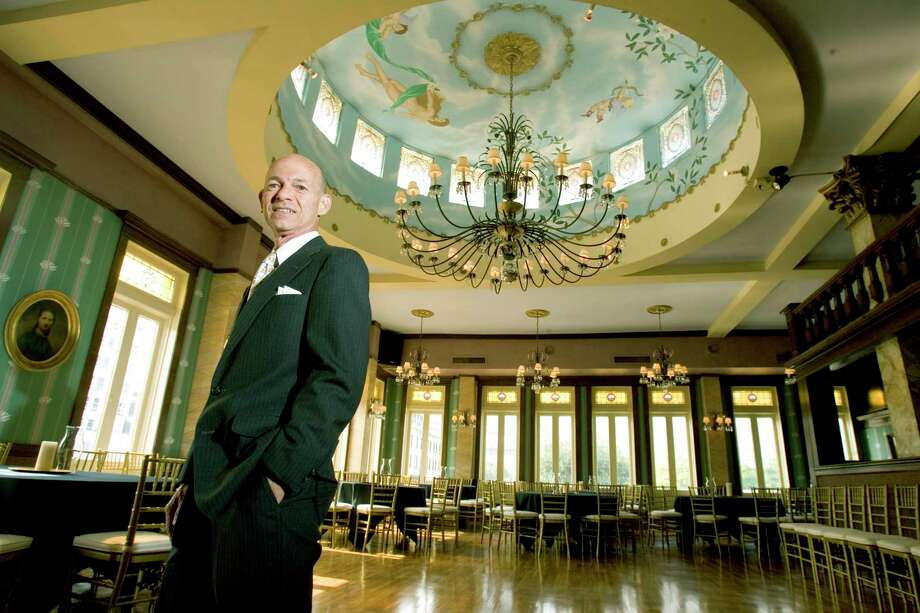 Bart Truxillo, owner of the Magnolia Brewery building, poses for a portrait in the ballroom Monday, Oct. 9, 2006, in Houston.  Photo: BRETT COOMER, STAFF / Houston Chronicle