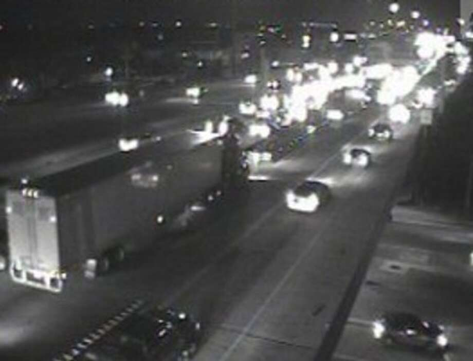 Semi-trailer accident temporarily shuts down eastbound lanes of I-10