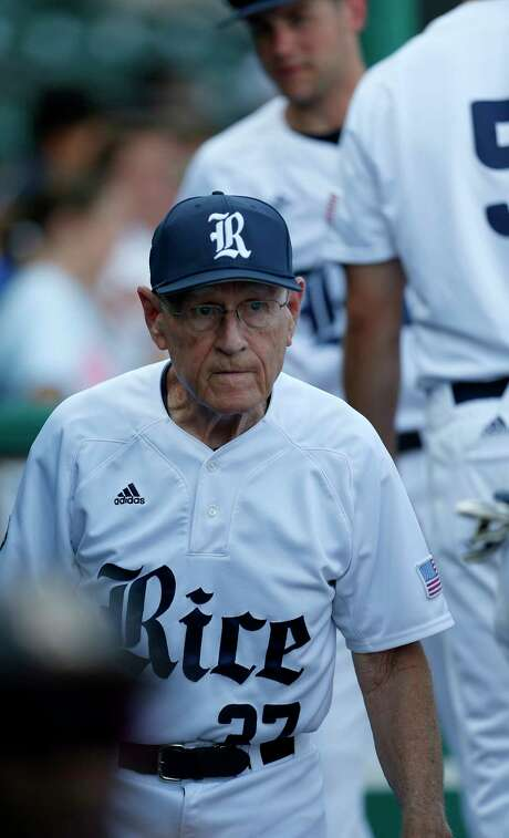 Rice head coach Wayne Graham in the dugout before the start of the first inning of a college baseball game at Constellation Field Tuesday, May 17, 2016, in Sugar Land.  ( Karen Warren  / Houston Chronicle ) Photo: Karen Warren, Staff / © 2016 Houston Chronicle