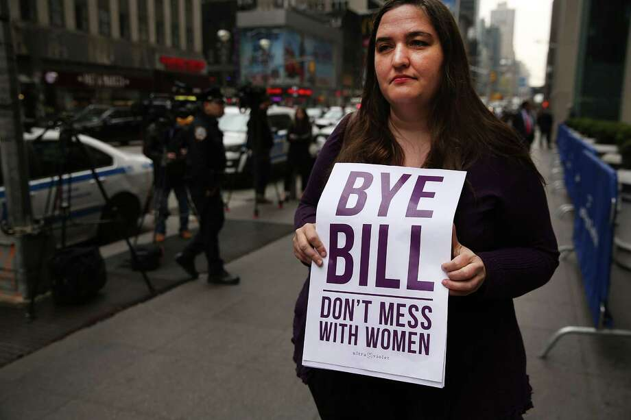 NEW YORK, NY - APRIL 20:  Members of the National Organization of Women (NOW) protest outside of Fox headquarters a day after the popular television network fired host Bill O'Reilly on April 20, 2017 in New York City. O'Reilly was fired following several allegations of sexual harassment against him. The activists believe there is still a rampant culture of sexual harassment at the network.  (Photo by Spencer Platt/Getty Images) ORG XMIT: 700037551 Photo: Spencer Platt / 2017 Getty Images