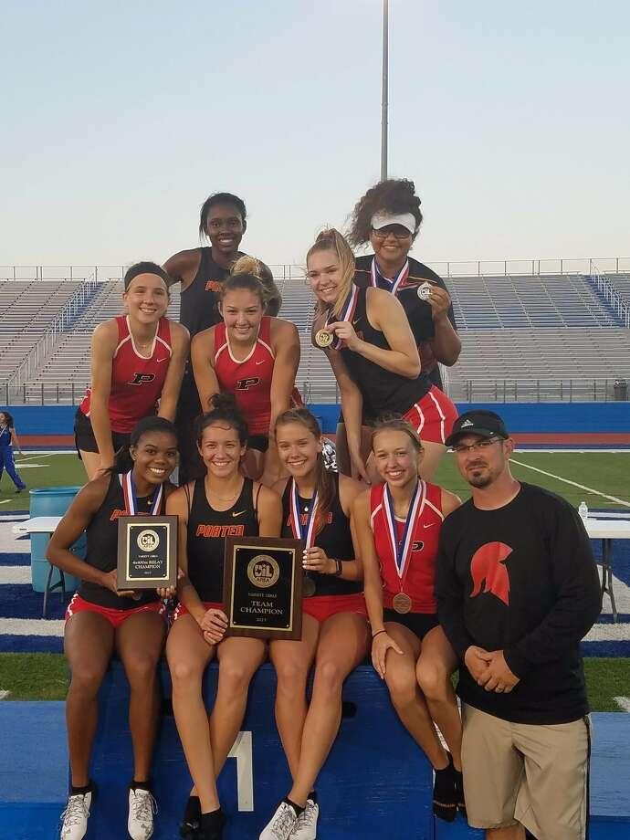 The Porter Lady Spartans won the Area 11-5A championship on Thursday at Barbers Hill High School. Photo: Photo Provided