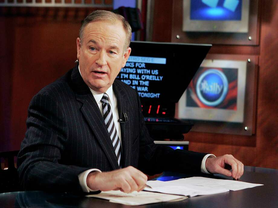 "FILE - In this Jan. 18, 2007 file photo, Fox News commentator Bill O'Reilly appears on the Fox News show, ""The O'Reilly Factor,"" in New York. O'Reilly has lost his job at Fox News Channel following reports that several women had been paid millions of dollars to keep quiet about harassment allegations. (AP Photo/Jeff Christensen, File) Photo: Jeff Christensen, STF / AP2007"