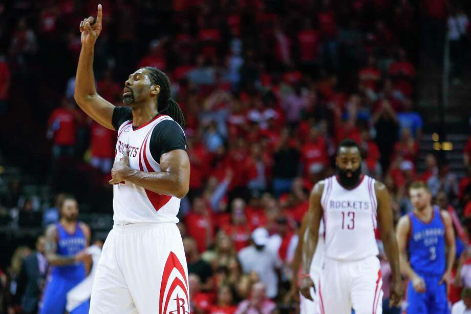 "For those trying to put a finger on what Nene, above, brings to the Rockets, coach Mike D'Antoni offers this: ""It's grown-man time, and Nene is a real veteran."" Photo: Michael Ciaglo, Staff / Michael Ciaglo"