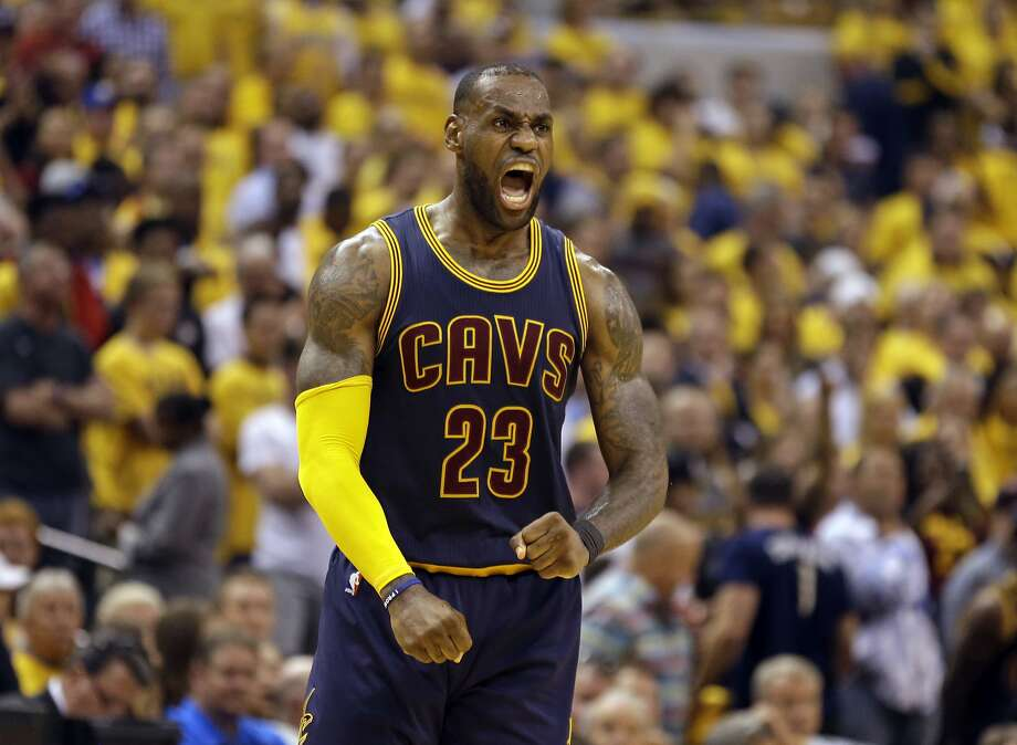 LeBron James' triple-double of 41 points, 13 rebounds and 12 assists carried Cleveland back from 25 down at halftime against the Pacers. It is the third-largest comeback in playoff history. Photo: Michael Conroy, Associated Press