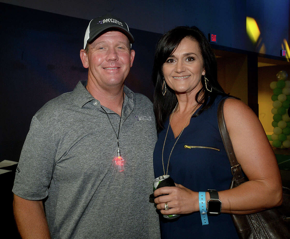Billy and Heather Teems were at this year's Champagne & Ribs fundraising gala at Ford Park Thursday. The theme of this year's event was