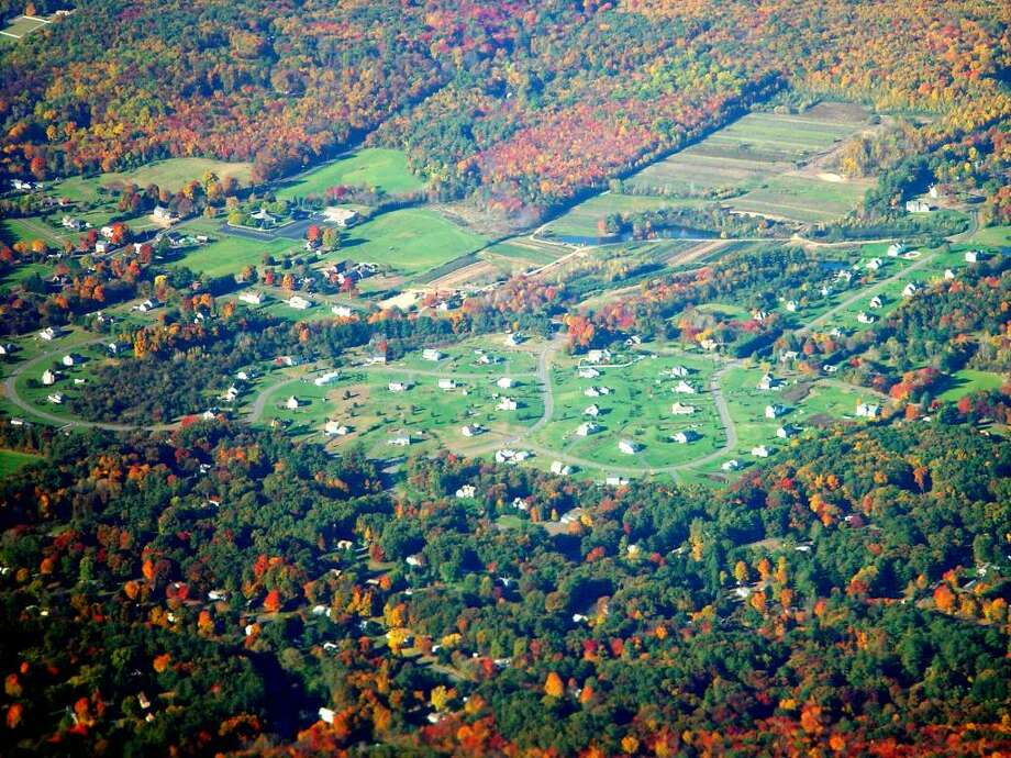 Suburban sprawl, such as this development in upstate Connecticut, are causing a significant decline in the state's forests, according to the Wildlands and Woodlands report released in May by Yale and Harvard universities. Photo: File Photo / Connecticut Post File Photo