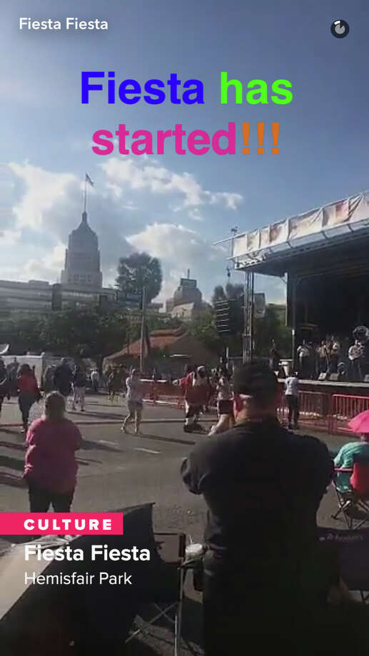 "Snapchat rolled out a ""San Antonio Culture"" story in its Discover section featuring Fiesta Fiesta that took place April 20, 2017. Photo: Snapchat Screenshot"