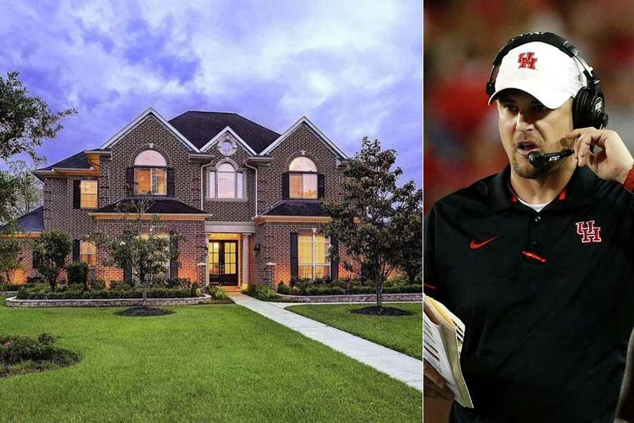 Tom Herman, the former University of Houston football coach who takes over the helm at University of Texas this fall, has finally sold his Houston home. Photo: AP ,  Realtor.com Composite