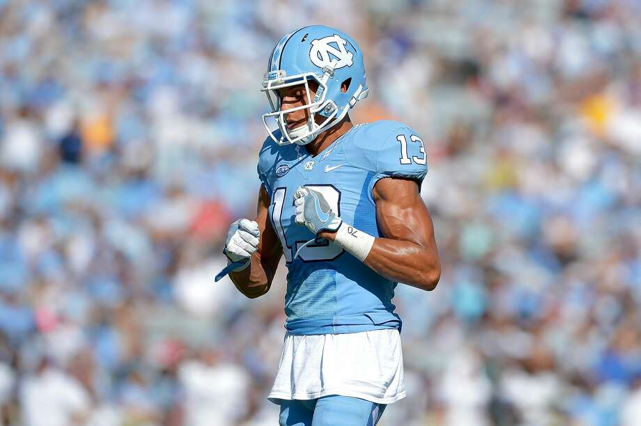CHAPEL HILL, NC - SEPTEMBER 17:  Mack Hollins #13 of the North Carolina Tar Heels in action against the James Madison Dukes during the game at Kenan Stadium on September 17, 2016 in Chapel Hill, North Carolina.  (Photo by Grant Halverson/Getty Images) Photo: Grant Halverson/Getty Images