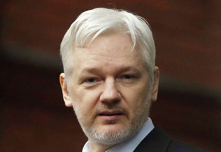 "Founder Julian Assange stated recently that WikiLeak's motive was ""to publish news worthy content."" Photo: Frank Augstein / Associated Press / Copyright 2016 The Associated Press. All rights reserved. This material may not be published, broadcast, rewritten or redistribu"