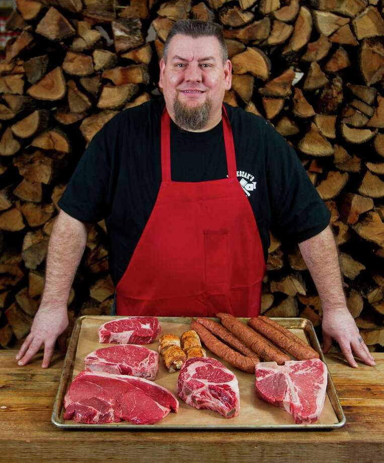 Michael Majkszak, owner of Majkszak Meat Market, recently won the semifinal round of the Best Loving Texans' Best Butcher in Texas compeition. Photo: Jason Fochtman, Staff Photographer / © 2017 Houston Chronicle