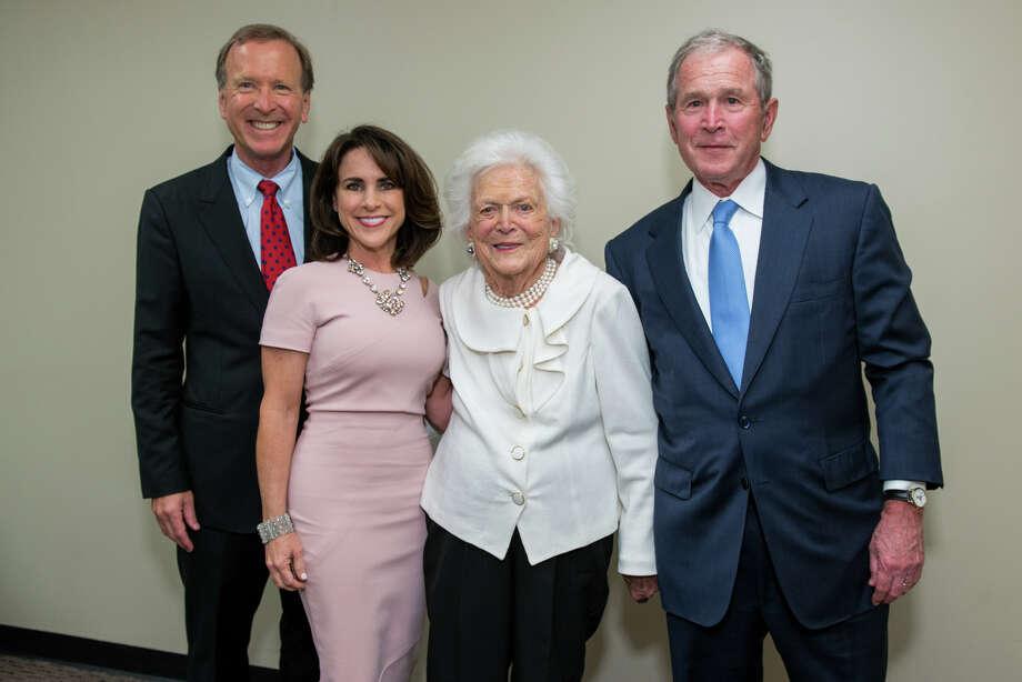 Neil and Maria Bush with Barbara Bush and George W. Bush Photo: Michelle Watson / CatchLight Gro/Photo By Michelle Watson/CatchLi
