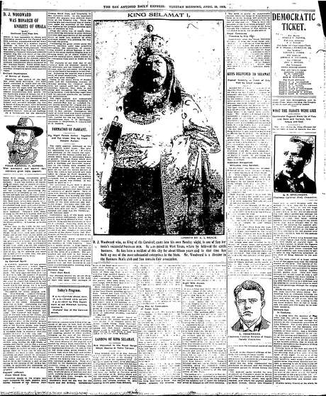 Jump page of April 25th, 1905 newspaper shows King Selamat (Tamales backwards) in full glory. Photo: Daily Express Digitized Microfilm