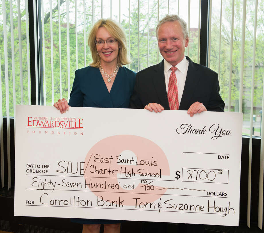 Tom & Suzanne Hough from this week's check presentation. Photo: For The Intelligencer