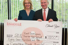 Tom & Suzanne Hough from this week's check presentation.