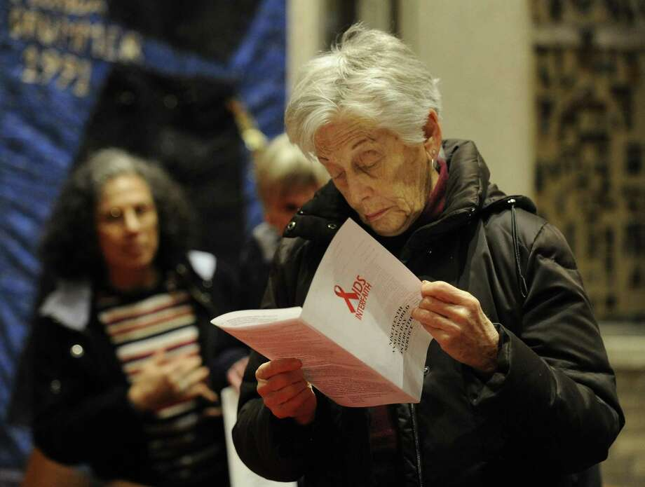 The 19th Annual World AIDS Day commemoration and interfaith service at First United Methodist Church in Stamford on Dec. 1, 2016. Photo: Matthew Brown / Hearst Connecticut Media / Stamford Advocate