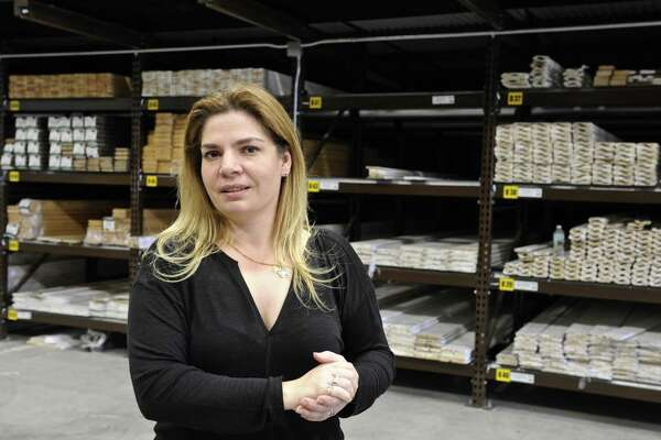 Margaret Price, CEO of Ridgefield Supply Co., Tuesday, April 11, 2017, in Ridgefield, Conn.