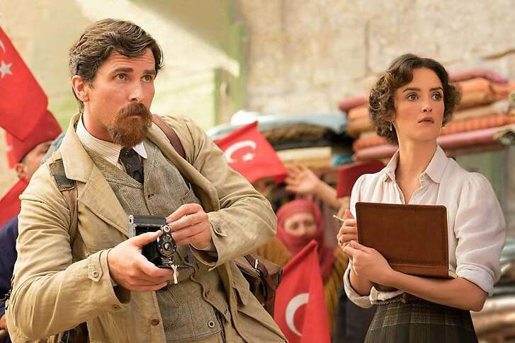 """Christian Bale and Charlotte Le Bon in """"The Promise."""" MUST CREDIT: Jose Haro, Open Road Films"""