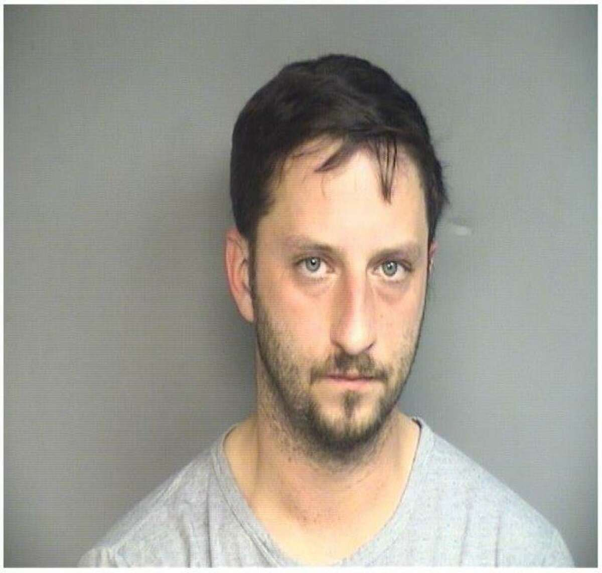 Spero Moschos, 35, of Stamford was arrested and charged with being a lookout to Joseph Boccuzzi when he allegedly robbed the First County Bank in Springdale on Feb. 3, 2017. Moschos recently finished an four and one half year federal prison term for robbing 11 area banks in 2009.