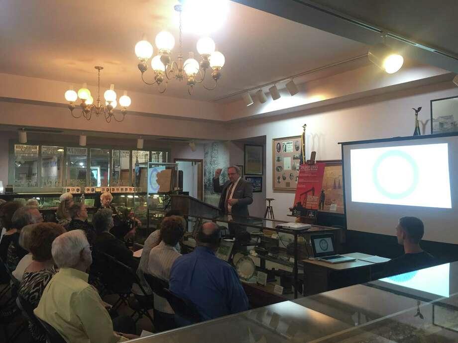 Robert Meaux kicks off Humble Museum speaker series to speak on the early origins of Humble. Photo: Dina Kesbeh