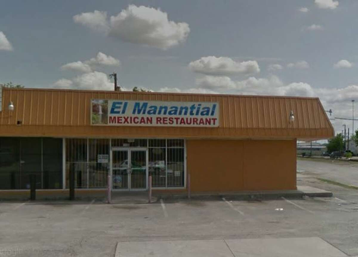 El Manantial Mexican Restaurant: 1136 W. Hildebrand, San Antonio, Texas 78201 Date: 04/13/2017 Score: 79 Highlights: Food not labeled properly, documentation not provided for employees handling ready-to-eat foods with bare hands; food not protected from cross contamination; employees did not have current/valid permit; bowls used as scoops for bulk foods instead of scoops with handles.