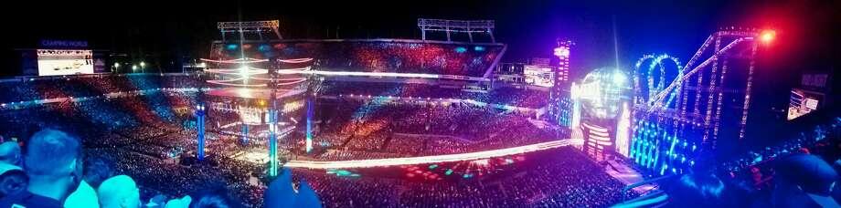 The WrestleMania 33 set in all of its $5 million dollar glory. Photo: Paul P. Adams/Huron Daily Tribune
