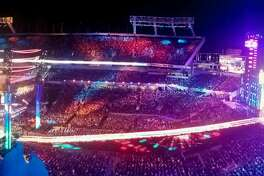 The WrestleMania 33 set in all of its $5 million dollar glory.