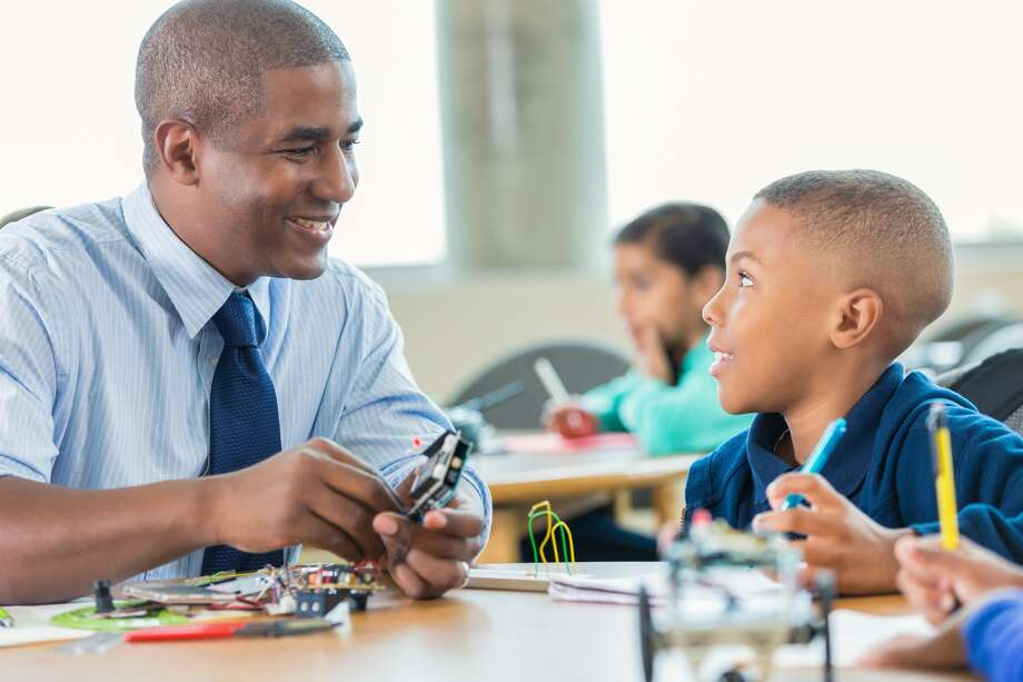 Some researchers say a black teacher might be more likely than a white teacher to have higher expectations of a black student.